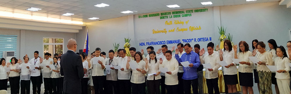 Newly Designated University and Campus Officials Inducted into Office